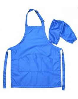 Фартух захисний для дитячої творчості (блакитний фартук 55 х 44 см, і нарукавники 25 х 17 см)
