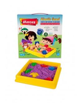 Кінетичний пісок 500 гр З пісочнею 40*40 см  та іграшками - (KUM-005)