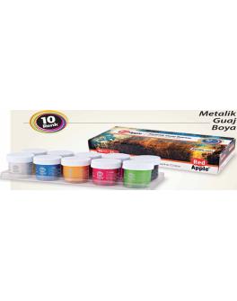 Фарба Гуаш металік  по 25 ml. 10 кольорі в баночках - (RG103-10M)