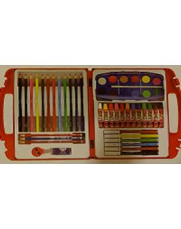 Набір для малювання 48 предметів в пластиковому органайзері - (33300)