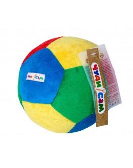 М'яч ФУТБОЛ (15см., брязкальце) - (А040)