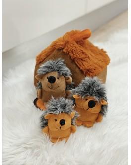М`яка іграшка ХАТКА З ЇЖАЧКАМИ (3 їжачки)