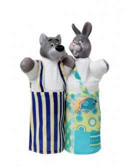 Набір ляльок-рукавиць ВОВК І ЗАЄЦЬ (2 персонажі) - (В076/077)