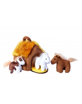М`яка іграшка ХАТКА З КОНЯЧКАМИ (3 конячки)