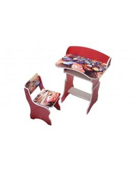 Парта ТИПУ ТАЧКИ ЧЕРВОНА (парта, стілець, регульована, 700*460*120)