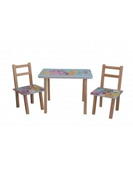 Столик + 2 стільчика ТИПУ ПОНІ (600*460)