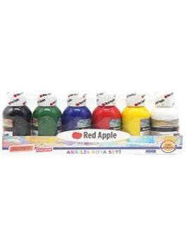 Набір акрилових фарб в пляшка 6 кольорів по 100мл - (RA100-6)