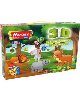 Набір тіста для ліплення 3D фігурок Дикі тварини - (ERN-571)