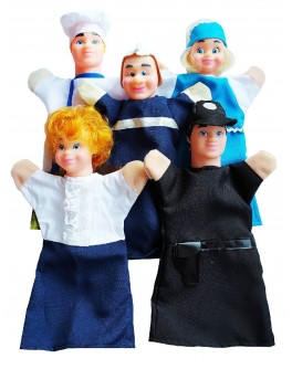 Ляльковий театр ПРОФЕСІЇ (5 персонажей), пакет
